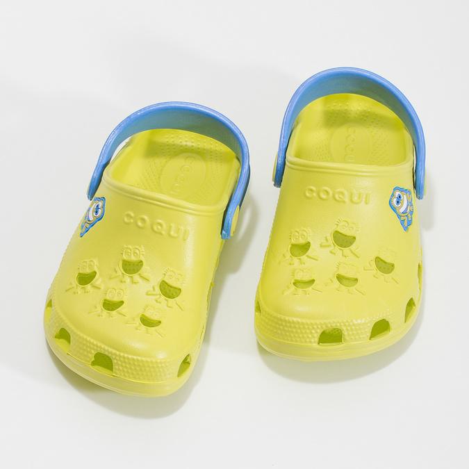 Sandały dziecięce zżabkami coqui, żółty, 272-7650 - 16