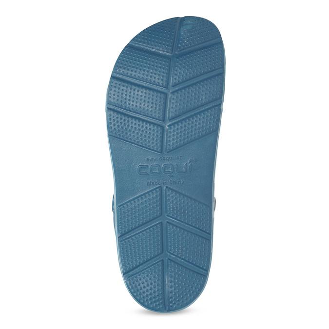 Turkusowe klapki męskie wstylu chodaków coqui, niebieski, 872-9657 - 18