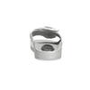 Srebrne satynowe klapki zperełkami bata, srebrny, 569-1615 - 15