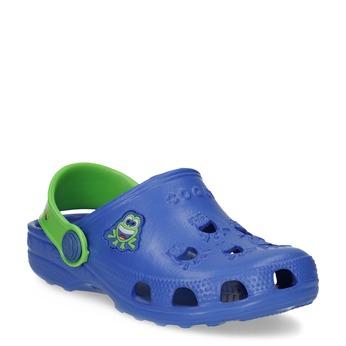 Niebieskie sandały dziecięce zżabkami coqui, niebieski, 272-9650 - 13