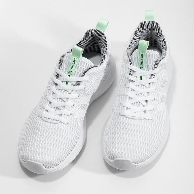 Białe siatkowe trampki adidas, biały, 509-1635 - 16