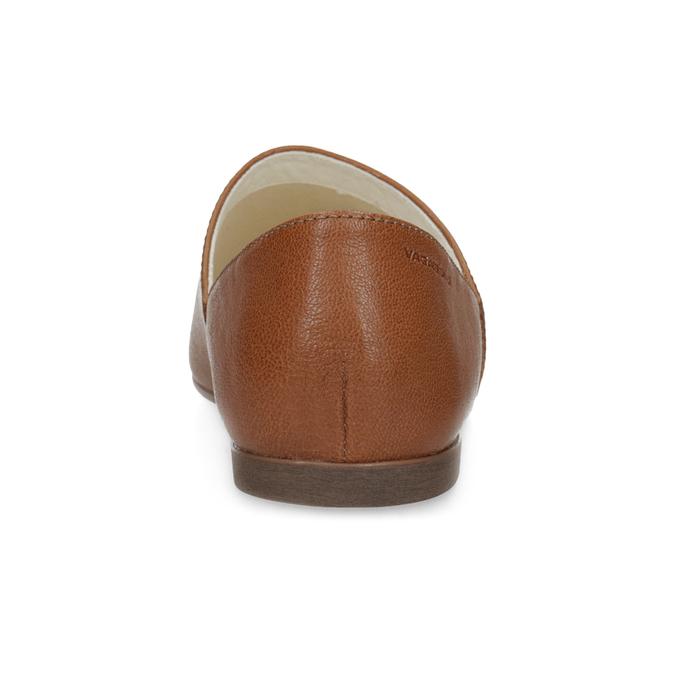 Brązowe skórzane slip-on damskie vagabond, brązowy, 514-4096 - 15