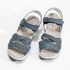 Niebieskie skórzane sandały wstylu outdoor weinbrenner, niebieski, 566-9634 - 16