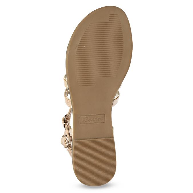 Beżowe sandały damskie typu gladiatorki bata, 561-8620 - 18