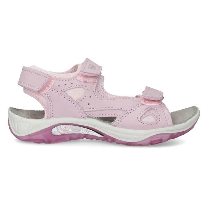 Skórzane sandały dziewczęce wstylu outdoor weinbrenner, różowy, 366-5606 - 19