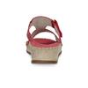 Czerwone skórzane klapki zkryształkami, na koturnach comfit, czerwony, 574-5438 - 15