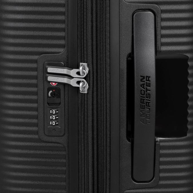 Twarda czarna walizka na kółkach american-tourister, czarny, 960-6613 - 15
