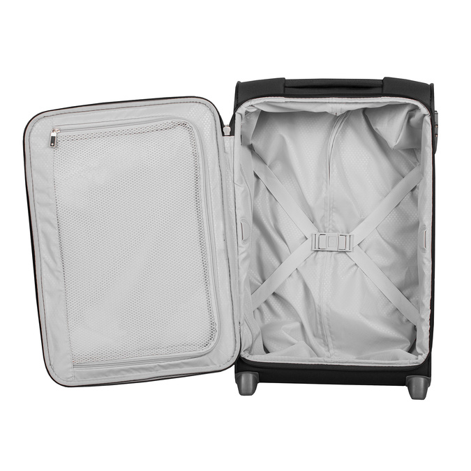Mała czarna walizka podróżna samsonite, czarny, 969-6617 - 17