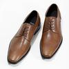 Brązowe skórzane półbuty męskie typu angielki bata, brązowy, 826-3646 - 16