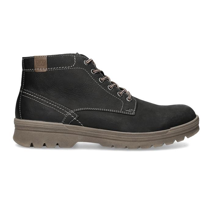 Skórzane zimowe buty męskie weinbrenner, czarny, 896-6107 - 19