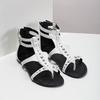 Białe sandały damskie zćwiekami bata, biały, 561-1613 - 26