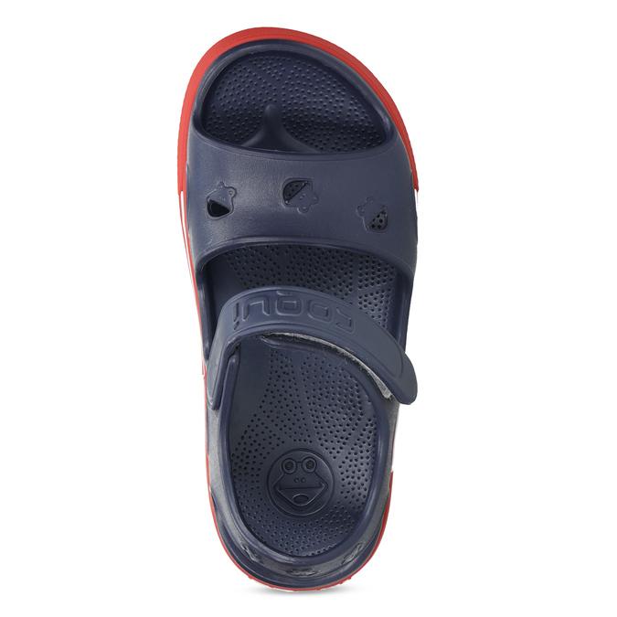 Granatowe sandały dziecęce coqui, niebieski, 372-9658 - 17