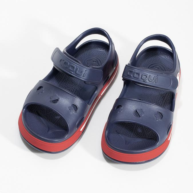 Granatowe sandały dziecęce coqui, niebieski, 372-9658 - 16