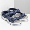 Niebieskie skórzane sandały chłopięce weinbrenner, niebieski, 463-9605 - 26