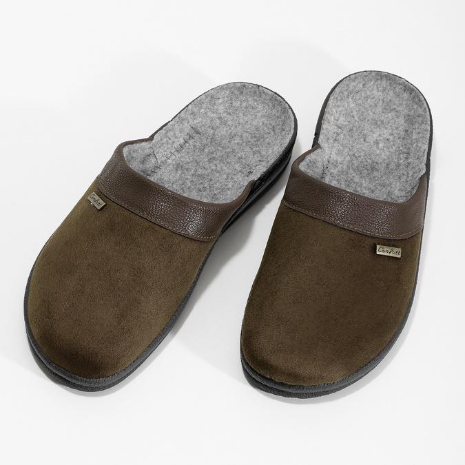 Kapcie męskie bata, brązowy, 879-4600 - 16