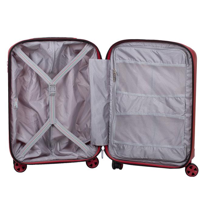 Mała czerwona twarda walizka na kółkach roncato, czerwony, 960-5738 - 17