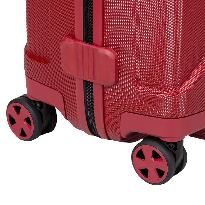 Duża czerwona twarda walizka na kółkach roncato, czerwony, 960-5736 - 16