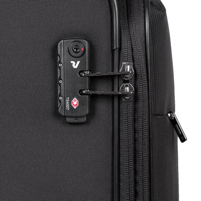 Średnia walizka na kółkach, zmateriału tekstylnego roncato, czarny, 969-6710 - 15
