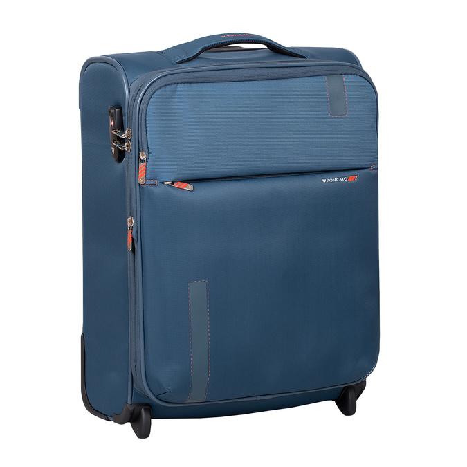 Turkusowa walizka pokładowa roncato, niebieski, 969-9722 - 13