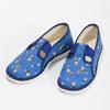 Granatowe kapcie dziecięce wdeseń piłkarski bata, niebieski, 279-9129 - 16