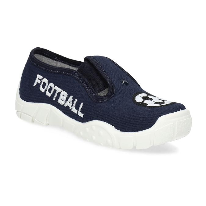 Granatowe obuwie dziecięce typu slip-on mini-b, niebieski, 379-9601 - 13