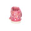 Różowe wzorzyste kapcie dziecięce za kostkę bata, różowy, 179-5212 - 15