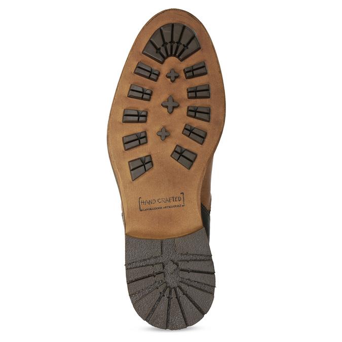 Brązowe skórzane obuwie męskie za kostkę bata, brązowy, 826-3505 - 18