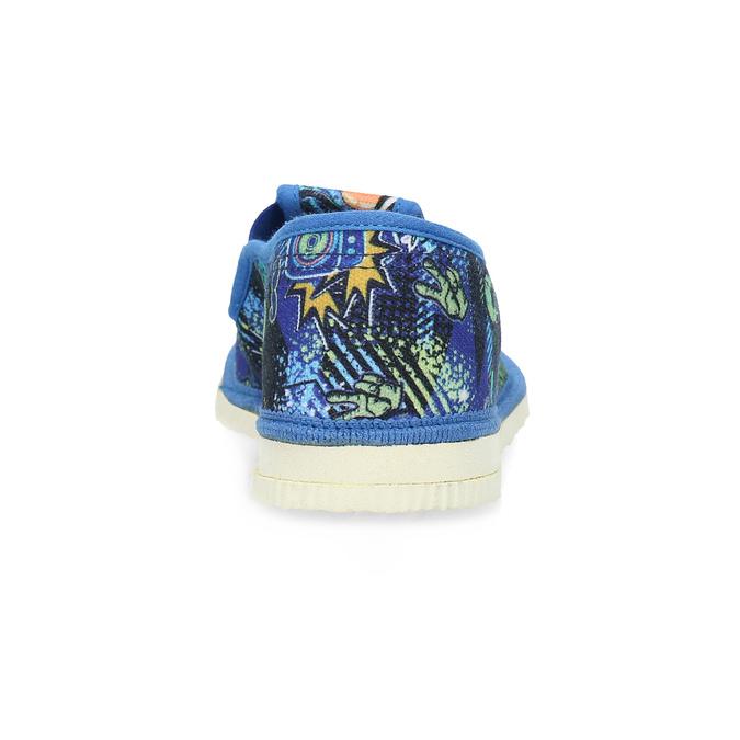 Niebieskie wzorzyste kapcie dziecięce bata, niebieski, 279-9124 - 15