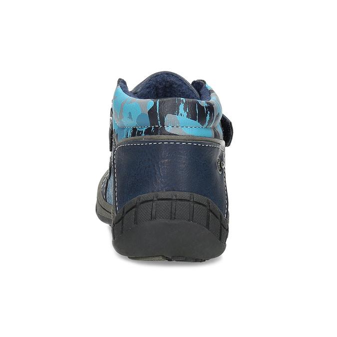 Niebieskie botki dziecięce na rzepy, niebieski, 111-9628 - 15