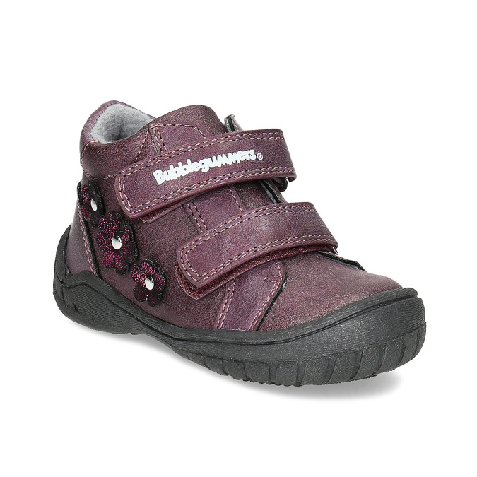 3b27944e425c2 Fioletowe botki dziewczęce z kwiatkami - Wszystkie buty dla dzieci ...