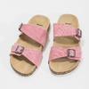 Różowe korkowe klapki damskie bata, różowy, 579-5625 - 16
