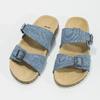 Niebieskie korkowe klapki damskie bata, niebieski, 579-9625 - 16