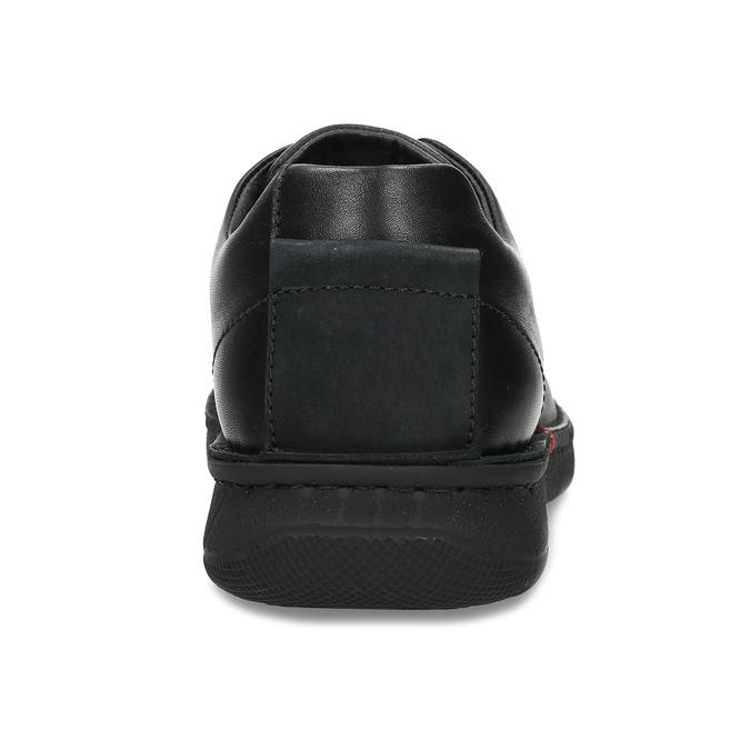 Czarne skórzane półbuty męskie bata, czarny, 824-6630 - 15