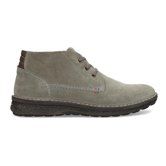 Skórzane obuwie męskie za kostkę, zprzeszyciami bata, szary, 843-2640 - 19