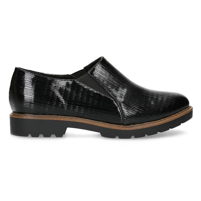 Obuwie damskie typu slip-on zfakturą bata, czarny, 511-6612 - 19