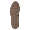 Brązowe skórzane trampki męskie zociepliną bata, brązowy, 846-4646 - 18