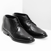Skórzane buty męskie za kostkę bata, czarny, 824-6892 - 26