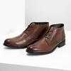 Skórzane obuwie męskie za kostkę bata, brązowy, 826-3893 - 16