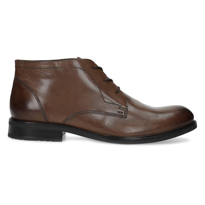 Skórzane obuwie męskie za kostkę bata, brązowy, 826-3893 - 19