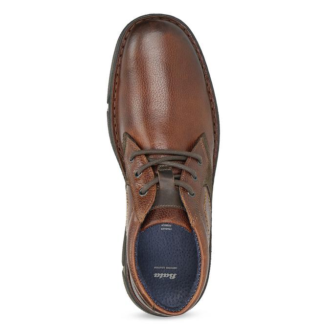 Skórzane obuwie męskie za kostkę bata, brązowy, 846-4718 - 17