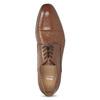Brązowe skórzane półbuty męskie bata, brązowy, 826-3406 - 17