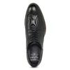 Czarne skórzane półbuty ze zdobieniami brogue bugatti, czarny, 824-6089 - 17