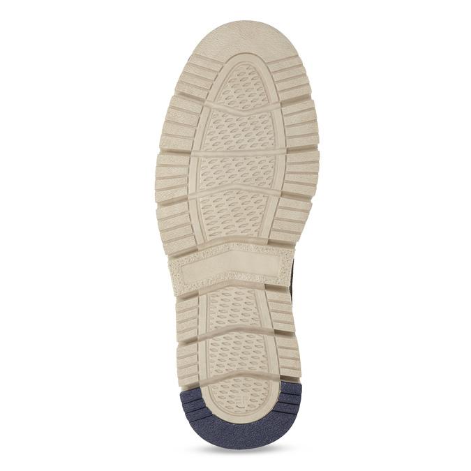 Skórzane obuwie męskie za kostkę weinbrenner, niebieski, 846-2658 - 18
