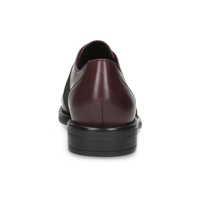 Bordowe półbuty damskie zelastycznymi paskami bata, czerwony, 514-5602 - 15