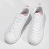 Białe trampki damskie zperforacją adidas, biały, 501-1800 - 16