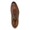 Brązowe skórzane półbuty typu angielki conhpol, brązowy, 826-3509 - 17