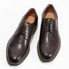 Brązowe skórzane półbuty typu angielki bata, brązowy, 826-4787 - 16