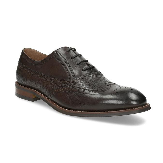 Brązowe skórzane półbuty typu oksfordy bata, brązowy, 826-4785 - 13