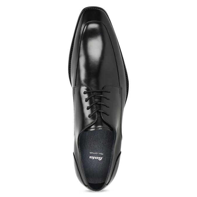 Czarne skórzane półbuty typu angielki bata, czarny, 824-6784 - 17
