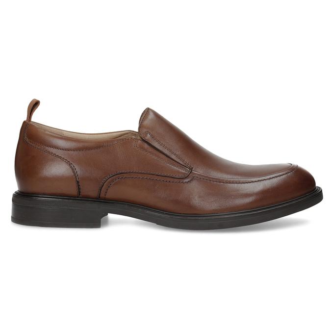 Brązowe skórzane mokasyny męskie bata, brązowy, 816-3628 - 19
